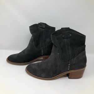 Dolce Vita Anthracite Grey Chunky Heel Booties